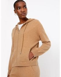 Marks & Spencer - Pure Cashmere Cropped Hoodie Camel - Lyst