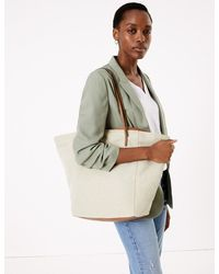 Marks & Spencer Canvas Tote Bag - Metallic