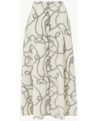 Marks & Spencer - Printed Button Detailed A-line Maxi Skirt - Lyst