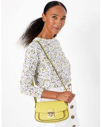 Marks & Spencer Faux Leather Saddle Bag Sunshine - Yellow