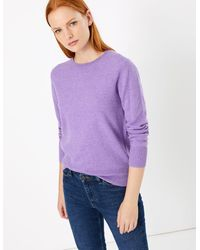 Marks & Spencer - Pure Cashmere Round Neck Jumper - Lyst