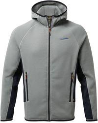 Marks & Spencer Craghoppers Zip Up Fleece Hoodie - Grey