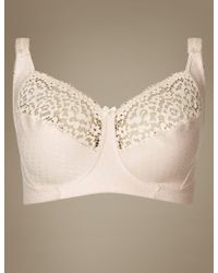 Marks & Spencer - Total Support Vintage Lace Non-padded Full Cup Bra B-g - Lyst