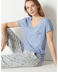 Marks & Spencer - Cotton Blend Textured Pyjama Top - Lyst