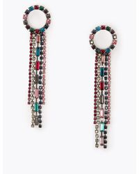 Marks & Spencer Chain Drop Earrings - Blue