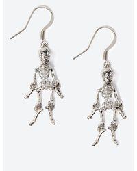 Marks & Spencer Halloween Skeleton Drop Earrings - Metallic