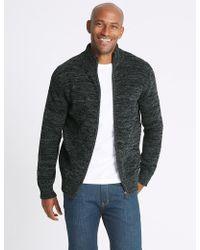 Marks & Spencer Chenille Zipped Through Cardigan - Multicolour