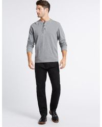 Marks & Spencer | Tapered Fit Stretch Jeans | Lyst