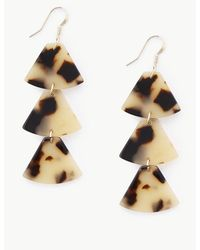 Marks & Spencer Triangle Drop Earrings - Brown