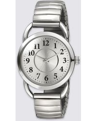 Marks & Spencer - Vintage Style Round Face Expandable Watch - Lyst