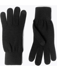 Marks & Spencer Knitted Gloves With Thermowarmthtm - Black