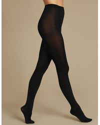 Marks & Spencer 2 Pair Pack 80 Denier Supersoft Opaque Tights - Black