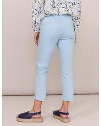 Marks & Spencer White Stuff Plain Cropped Jeggings - Blue