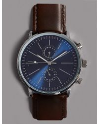 Marks & Spencer - Leather Modern Watch - Lyst