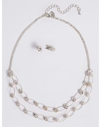 Marks & Spencer | Silver Plated Necklace & Earring Set | Lyst
