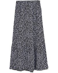 Marks & Spencer Floral Maxi Tiered Skirt - Black