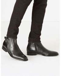 Marks & Spencer - Saffiano Leather Jodhpur Boots - Lyst