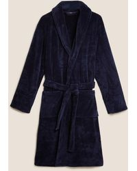 Marks & Spencer Supersoft Dressing Gown - Blue