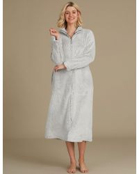 Marks & Spencer - Supersoft Long Sleeve Dressing Gown - Lyst