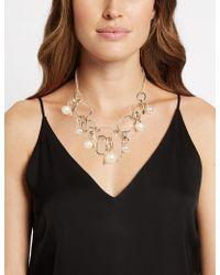 Marks & Spencer - Cluster Necklace - Lyst