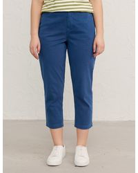 Marks & Spencer Seasalt Cornwall Cotton Slim Fit Cropped Trousers - Blue