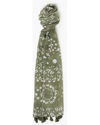 Marks & Spencer M&s Collection Western Tassel Scarf - Green