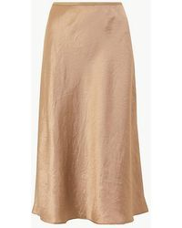 eaeb655ebf Old Navy Button-front Midi Skirt in Blue - Lyst