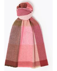 Marks & Spencer Checked Scarf - Pink