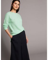 Marks & Spencer - Pure Cahere Round Neck Ong Eeve Juper - Lyst