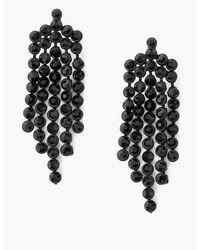 Marks & Spencer Crystal Drop Earrings - Black