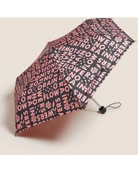 Marks & Spencer Stormweartm Compact Umbrella - Blue