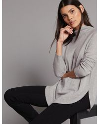 Marks & Spencer - Pure Cahere Curved He Funne Neck Juper - Lyst