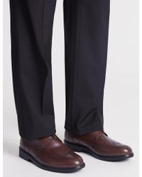 Marks & Spencer - Extra Wide Fit Leather Brogue Shoes - Lyst
