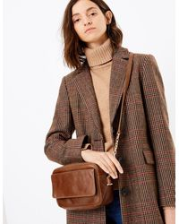 Marks & Spencer Leather Camera Bag - Brown