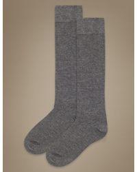 Marks & Spencer - 2 Pair Pack Soft Knee High Socks - Lyst