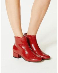 Marks & Spencer - Block Heel Ankle Boots - Lyst