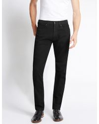 Marks & Spencer - Slim Fit Stretch Water Resistant Jeans - Lyst