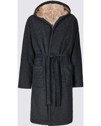 Marks & Spencer - Bonded Fleece Dressing Gown - Lyst