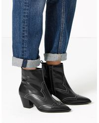 ae5a40a8ca7 Office Leather Astronomy Western Ankle Boots in Black - Lyst