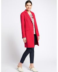 Marks & Spencer - Textured Coat - Lyst
