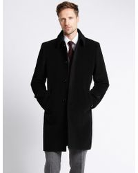 Marks & Spencer - Wool Rich Coat With Cashmere - Lyst