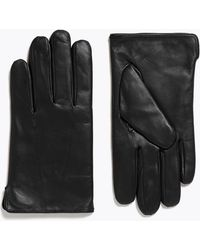Marks & Spencer Leather Gloves With Thermowarmthtm - Black