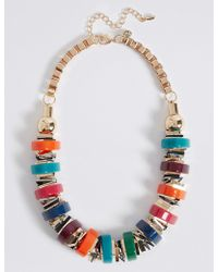 Marks & Spencer - Chunky Tube Collar Necklace - Lyst