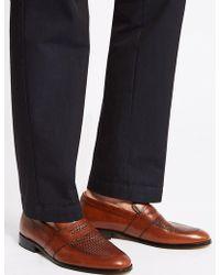 Marks & Spencer - Leather Weaved Slip-on Loafers - Lyst