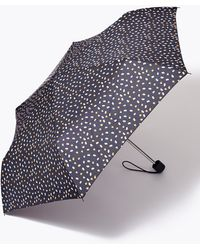 Marks & Spencer Polka Dot Stormweartm Compact Umbrella - Blue