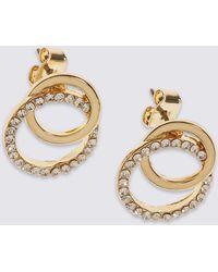 Marks & Spencer | Diamanté Circle Stud Earrings | Lyst