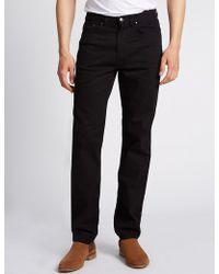 Marks & Spencer | Regular Fit Stretch Staynewtm Jeans | Lyst
