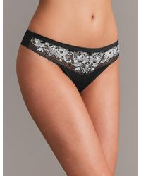 Marks & Spencer - Floral Lace Thong - Lyst