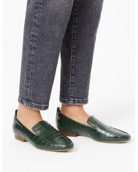 Marks & Spencer Leather Square Toe Loafers - Green