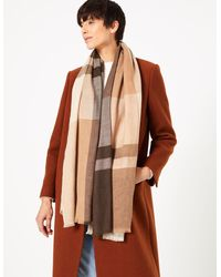 Marks & Spencer Checked Scarf - Multicolor